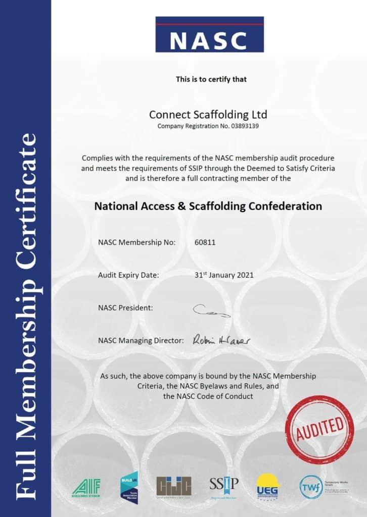 Nasc Certificate
