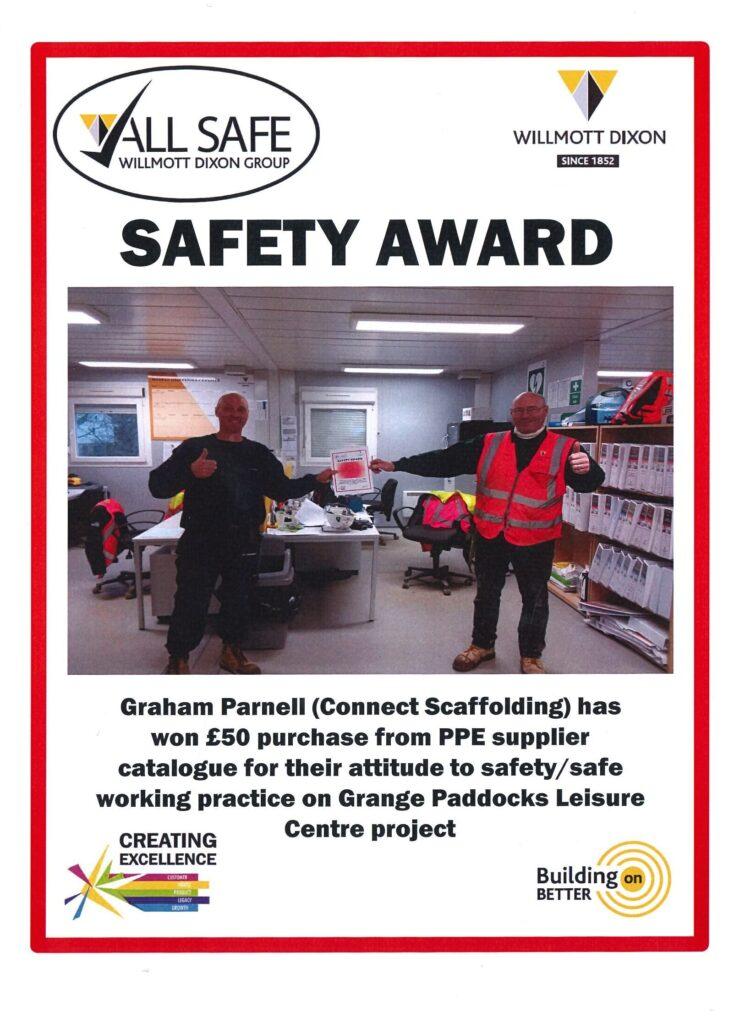 Graham Parnell Safety Award At Grange Paddocks Leisure Centre