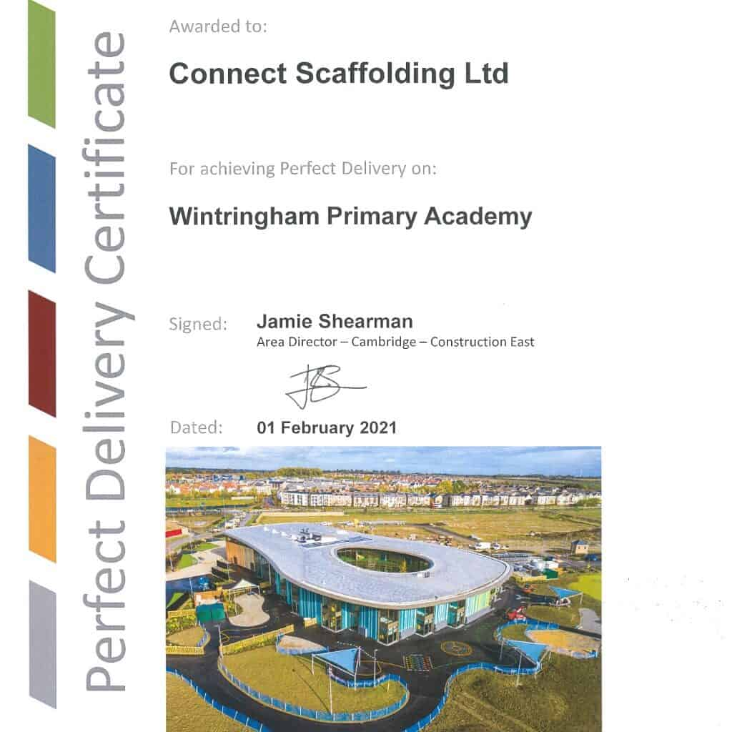 Perfect Delivery Morgan Sindall Wintringham Primary Academy (1)