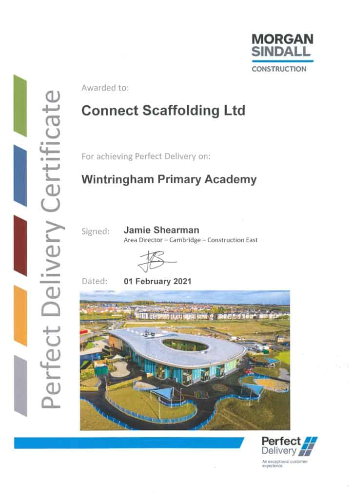 Perfect Delivery Morgan Sindall Wintringham Primary Academy